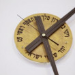 Clock with hebrew inscriptions — Stock Video #60014793