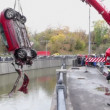 Crane lifts car from water — Stock Video #60015943