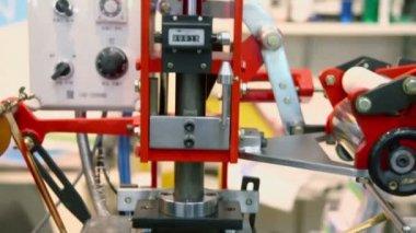 Mechanism of press machine — Stock Video