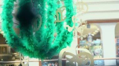 Fur sphere adornment — Stock Video