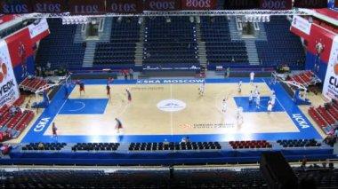 CSKA Moscow and Zalgiris Kaunas — Vídeo Stock