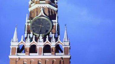 Spaskaya tower in Moscow — Stock Video