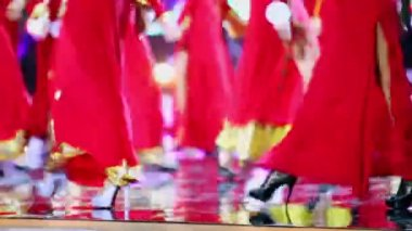Girls contestants of beauty queen competition — Stock Video