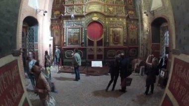 Aziz Basil Katedrali turist — Stok video