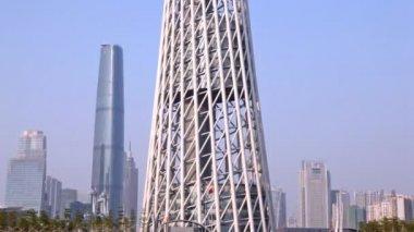 Torre de televisión de Cantón — Vídeo de Stock