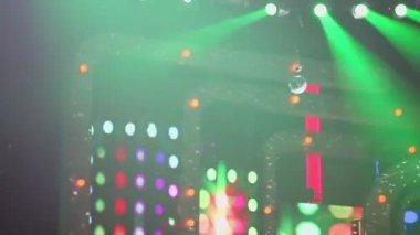 Stage with flashing illumination — Stock Video