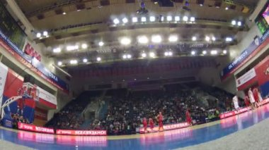 Cska Moscovo - jogo de Zalgiris Kaunas na Copa Gomelsky — Vídeo stock