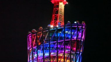 Top of Canton television tower — Stock Video