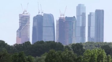 Unfinished skyscrapers of Moscow City — Vídeo de Stock
