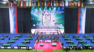 Kremlin Cup pool competition — 图库视频影像