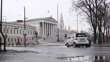 Parliament Building Vienna — Stockvideo