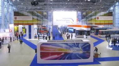 Public transport exhibition at Expocitytrans — Stock Video