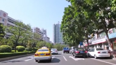 Driving through Guangzhou street — Stok video