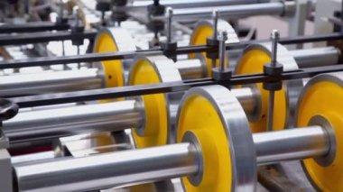 Machine of printing conveyor — Stock Video