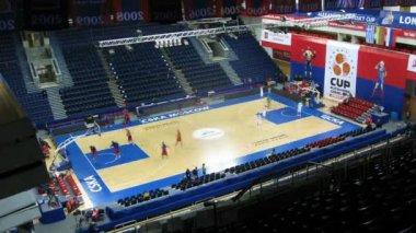 CSKA Moscow and Zalgiris Kaunas — Stock Video