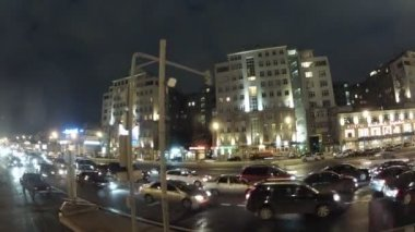 Tourist bus on streets of Moscow — Stock Video