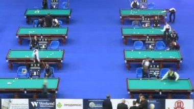Billiard Championship in Olympic Stadium — Stock Video