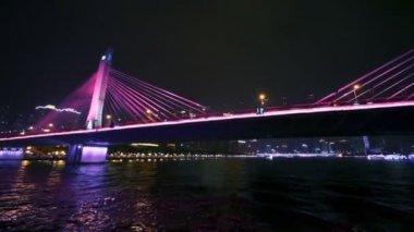 Traffic on Haiyin bridge — Stock Video