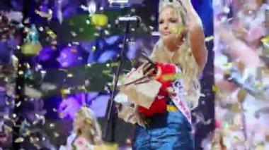 Winner of Beauty of Russia Natalya Pereverzeva — Stock Video