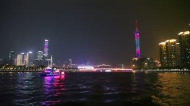 Touristic vessel on Pearl river — Vídeo de stock