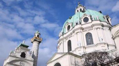 Koepel van de St. Charles kerk — Stockvideo
