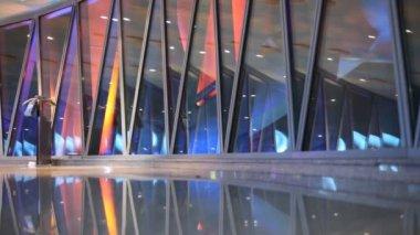 Canton tower floor illuminated — Stock Video