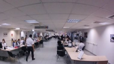 Staff of company goes at office — Vídeo de stock