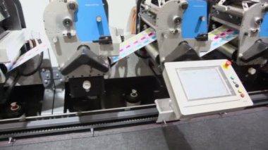 Control unit of printing conveyor — Stock Video