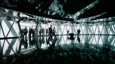 Tourists in Canton tower — Stock Video