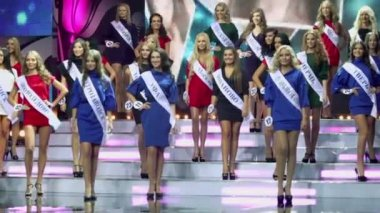 Contestants of Russian beauty — Stock Video