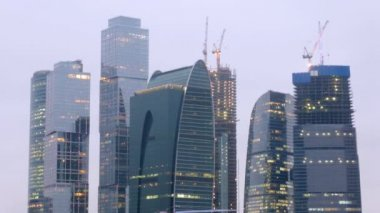 Top of the Moscow City — Stok video