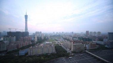 Beautiful panorama of Guangzhou — Stock Video