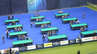 Kremlin cup pool competition — Stock Video