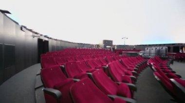 Auditorium and projector in Planetarium — Stock Video