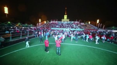 Fans celebrate in Fanzone — Stock Video