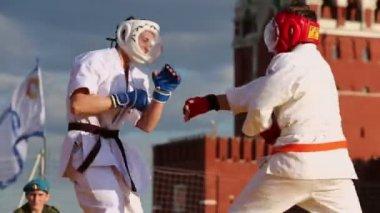 Kudo sportsmen fight — Stock Video