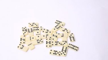 Several pieces of domino — Stock Video