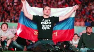 Russian fans on UEFA EURO 2012 — Stock Video