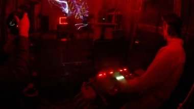 Electric show seen from protection cage — Wideo stockowe