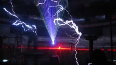 Electric show with lasers — Wideo stockowe