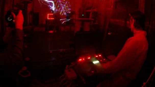 Electric show seen from protection cage — Vidéo