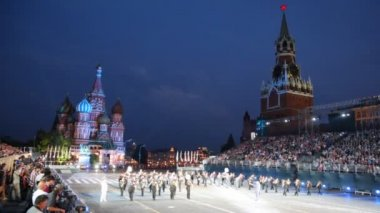Ukraine Orchestra at Military Music Festival — Stock Video