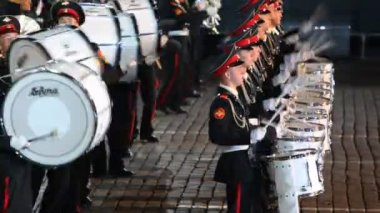 Orchestra of Moscow Suvorov Military College — Stock Video