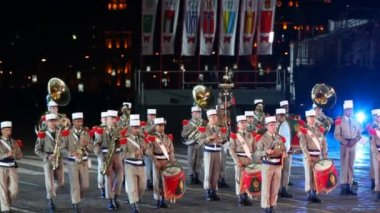Orchestra of France Foreign Legion — Stock Video