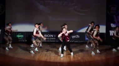 Furby Crew team perform — Stock Video