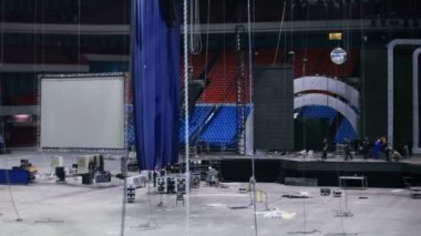 Dismantling of stage equipment — Stock Video