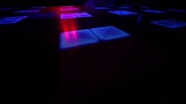Light spots on dance floor — Stock Video