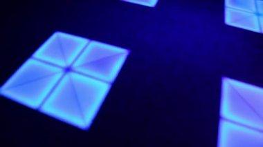 Illumination runs on dance floor — Stock Video