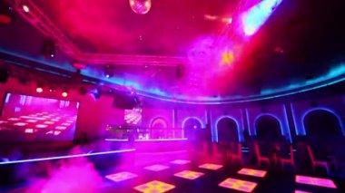 Light equipment run in night club — Video Stock