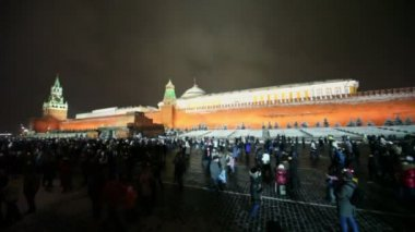 Crowd walk on Red Square — Stok video